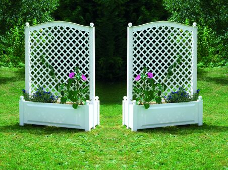 Set of 2 large planter boxes with trellis, central  100 cm