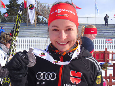 Luise Kummer after a race
