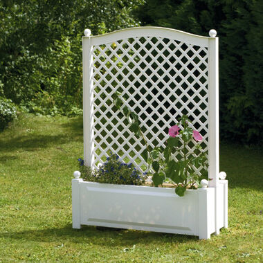Large planter box with trellis, central 100 cm