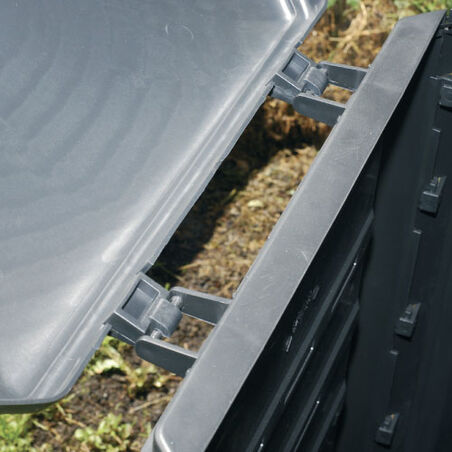 Composter 340 Liter with hinge cover and 12 cable ties
