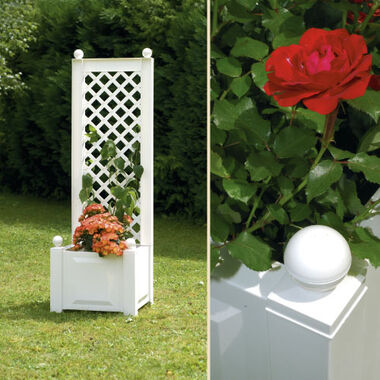 Small planter box with trellis, 43 cm