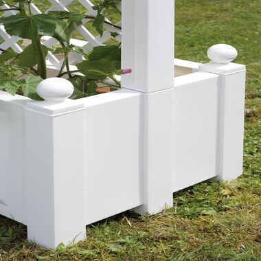 Set of 2 planter boxes with trellis, central 43 cm